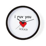 i ruv you Wall Clock