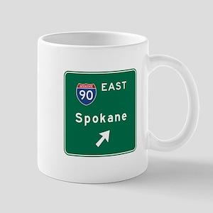 Spokane, WA Road Sign, USA Mug
