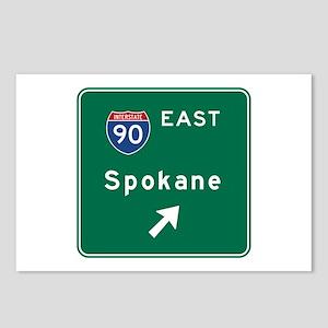 Spokane, WA Road Sign, US Postcards (Package of 8)