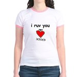 i ruv you Jr. Ringer T-Shirt