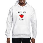 i ruv you Hooded Sweatshirt
