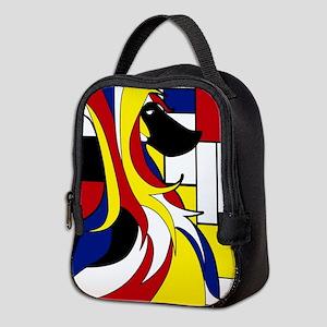 Geometric Afghan Hound Abstract Neoprene Lunch Bag