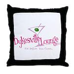 Dykesville Lounge & Bar Throw Pillow