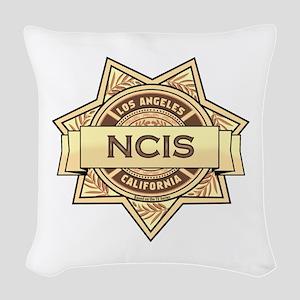 NCIS Badge Woven Throw Pillow