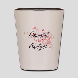 Financial Analyst Artistic Job Design w Shot Glass