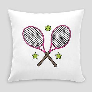Tennis Racquets Everyday Pillow
