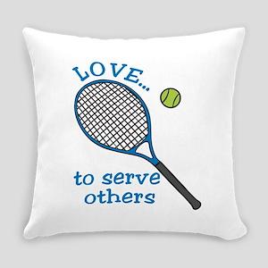Tennis Serve Everyday Pillow