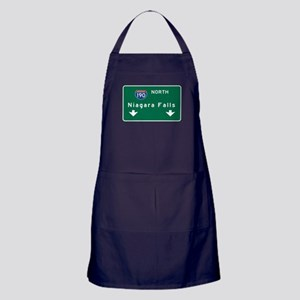 Niagara Falls, NY Road Sign, USA Apron (dark)