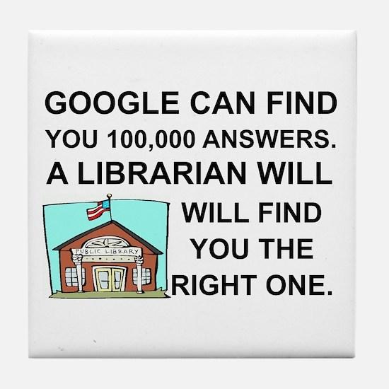 Unique Librarian Tile Coaster