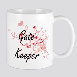 Gate Keeper Artistic Job Design with Hearts Mugs