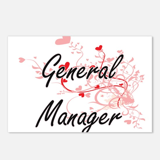 General Manager Artistic Postcards (Package of 8)