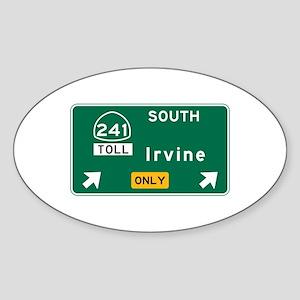 Irvine, CA Road Sign, USA Sticker (Oval)