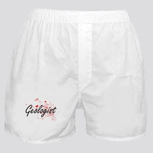 Geologist Artistic Job Design with He Boxer Shorts