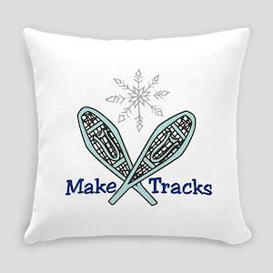 Make Tracks Everyday Pillow
