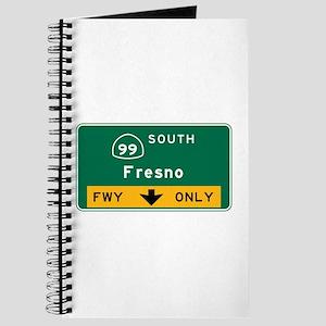 Fresno, CA Road Sign, USA Journal