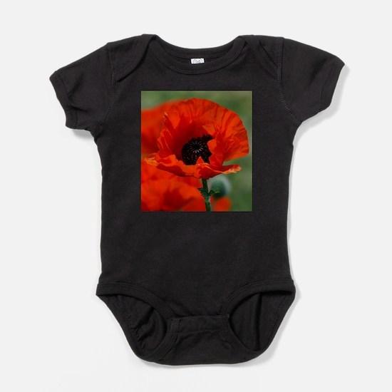 Beautiful Red Poppy Baby Bodysuit