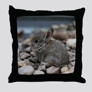 SMALL BABY BUNNY Throw Pillow