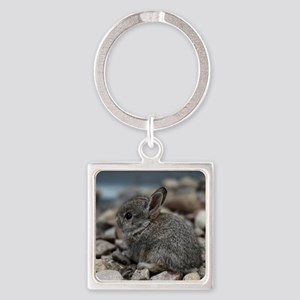 SMALL BABY BUNNY Square Keychain