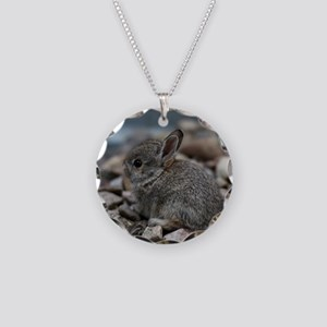 SMALL BABY BUNNY Necklace Circle Charm