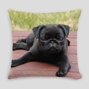 ALERT PUG PUPPY Everyday Pillow