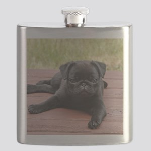 ALERT PUG PUPPY Flask