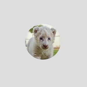 WHITE LION CUB Mini Button