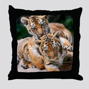 BABY TIGERS Throw Pillow