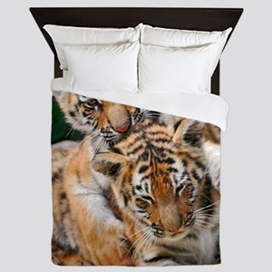 BABY TIGERS Queen Duvet