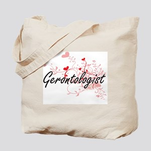 Gerontologist Artistic Job Design with He Tote Bag