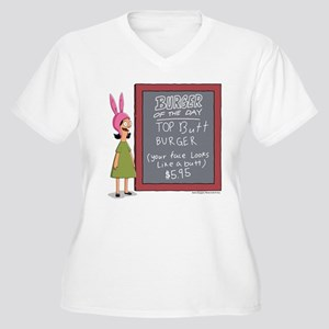 Bob's Burgers Bur Women's Plus Size V-Neck T-Shirt