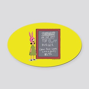 Bob's Burgers Burger of the Day Oval Car Magnet