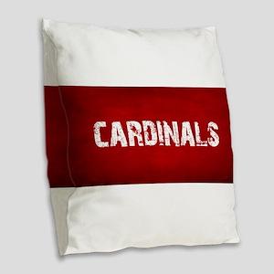 CARDINALS Burlap Throw Pillow