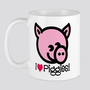 I Love Piggies! Mug