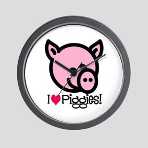 I Love Piggies! Wall Clock
