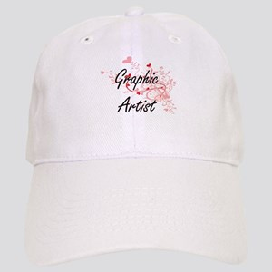 Graphic Artist Artistic Job Design with Hearts Cap