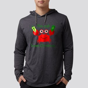 Christmas Crab Mens Hooded Shirt