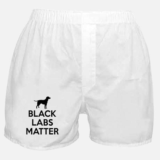 Black Labs Matter Boxer Shorts