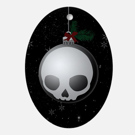 Skull Christmas Ornament Graphic Oval Ornament