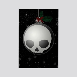 Skull Christmas Ornament Graphic Magnets