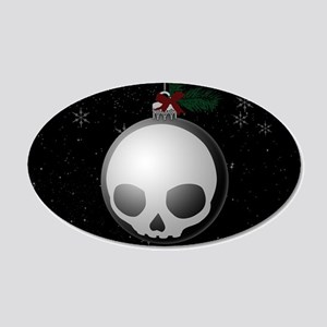 Skull Christmas Ornament Graphic Wall Decal