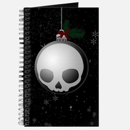 Skull Christmas Ornament Graphic Journal