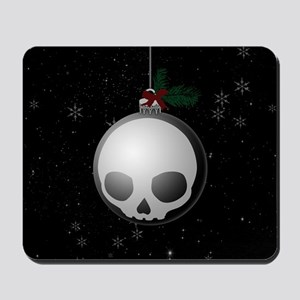 Skull Christmas Ornament Graphic Mousepad