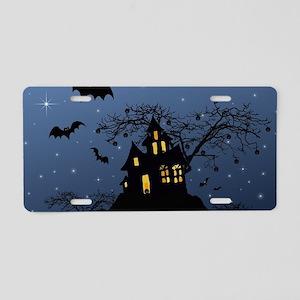 Halloween House Aluminum License Plate