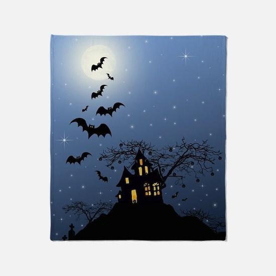 Halloween House Throw Blanket