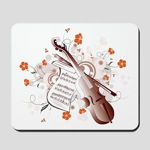 Floral Violin Mousepad