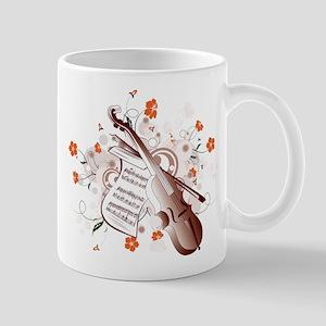 Floral Violin Mug