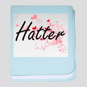 Hatter Artistic Job Design with Heart baby blanket