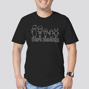 Bob's Burgers Family O Men's Fitted T-Shirt (dark)