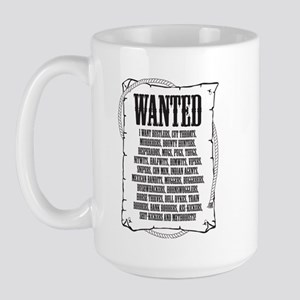 Wanted Poster Large Mug