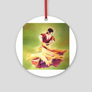 Flamenco Dancer Round Ornament